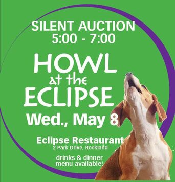 Silent Auction from 5-7pm, Wed., April 25 at the ECLIPSE RESTAURANT in Rockland
